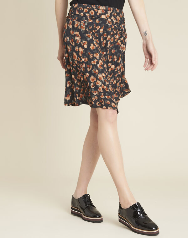 Astuce black skirt with an animal hide print  (1) - 1-2-3