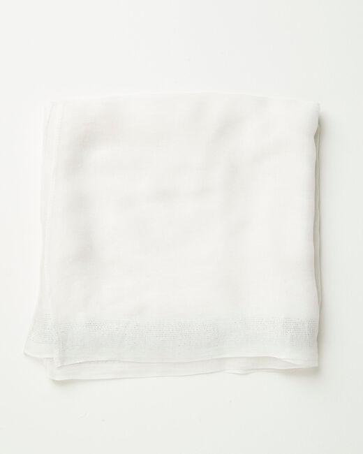 Ecrufarbenes glänzendes Halstuch aus Viskose Amber (1) - 1-2-3
