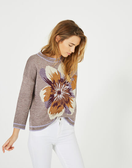 Pavonia floral print sweater (3) - 1-2-3