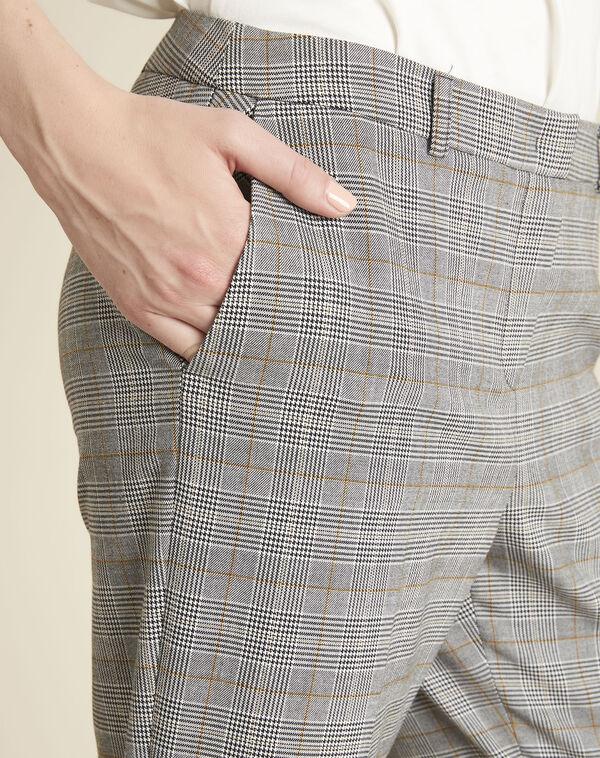 Graue Hose mit Glencheck-Muster Natura (2) - 1-2-3