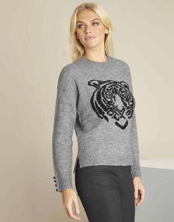 Bonobo grey lion print pullover PhotoZ | 1-2-3