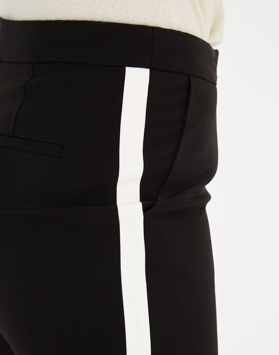 Pantalon de tailleur noir et blanc à bandes Vadim (5) - 1-2-3