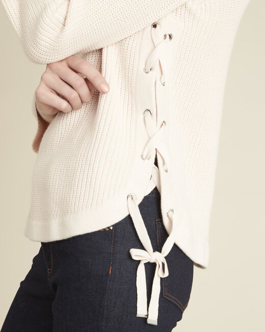 Becot nude sweater with lacing on the side (2) - 1-2-3