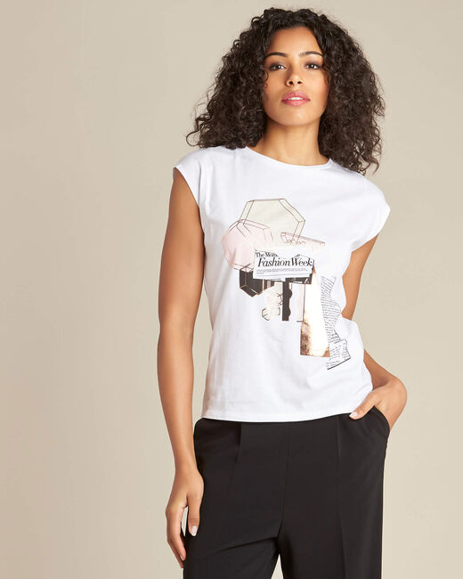 Elodie white stereographed T-shirt (2) - 1-2-3