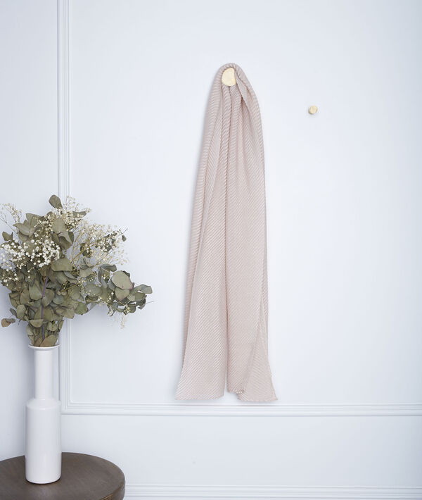 Foulard plissé rose Greta PhotoZ   1-2-3