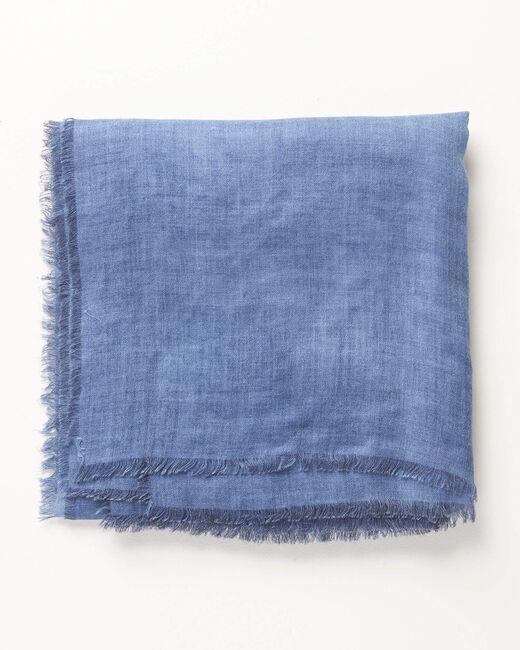 Blaues einfarbiges Halstuch Amadou (1) - 1-2-3