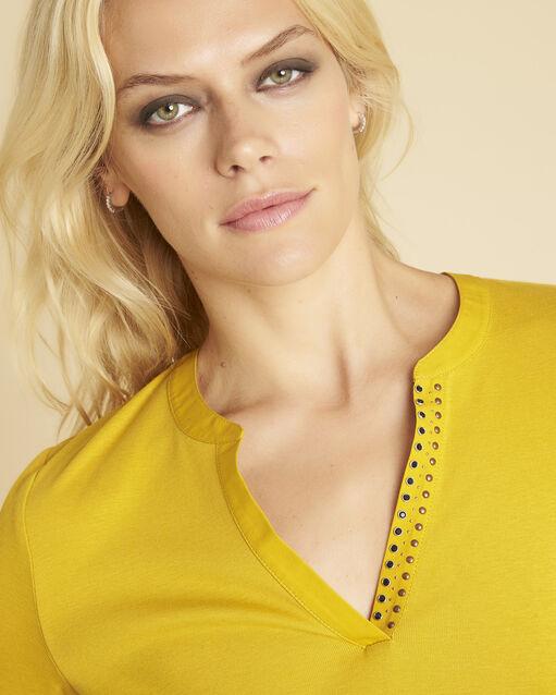Tee-shirt ambre encolure V fantaisie Episod (2) - 1-2-3