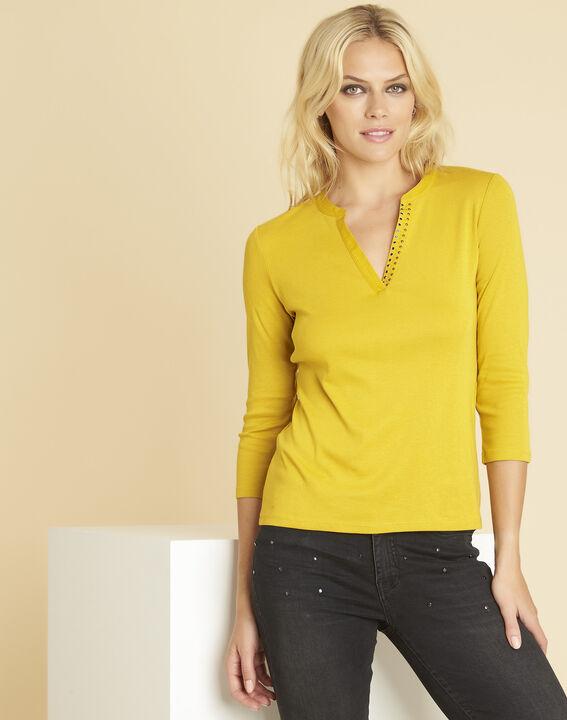 Tee-shirt ambre encolure V fantaisie Episod PhotoZ | 1-2-3