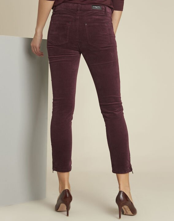 Jean bordeaux slim velours Vendome (4) - 1-2-3