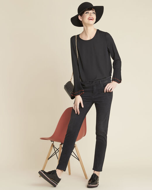 Caroline black blouse with jewelled detailing (2) - 1-2-3