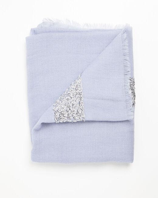 Foulard azur sequins en laine Fiona (2) - 1-2-3