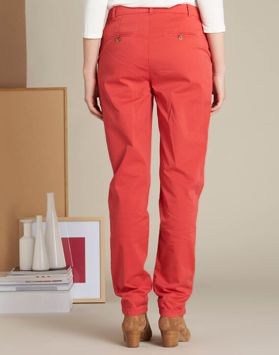 Victoria raspberry chinos with turn-ups (4) - 1-2-3