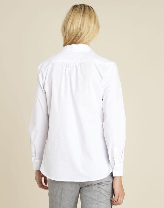 Weiße Popeline-Hemdbluse Cyrielle (4) - 1-2-3