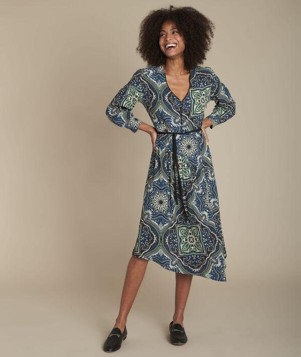 Bedrucktes Kleid aus Kaschmir Ida PhotoZ | 1-2-3