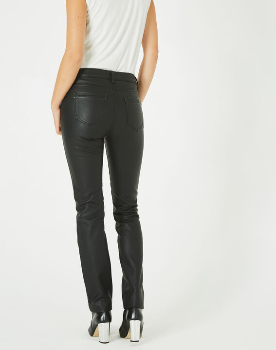 Pantalon noir slim faux cuir William (4) - Maison 123