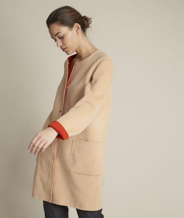 Manteau en laine réversible Saelle PhotoZ | 1-2-3