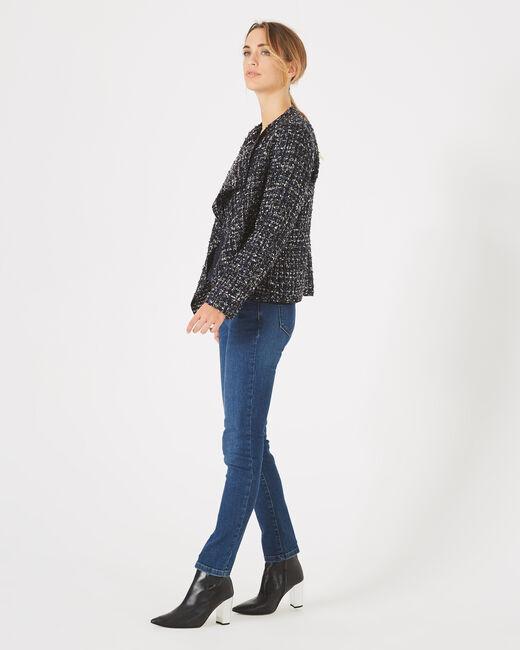 Veste indigo foncé en tweed Mouna (1) - 1-2-3