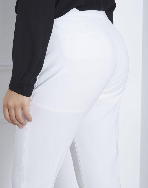 Pantalon blanc slim microfibre Lara (3) - Maison 123