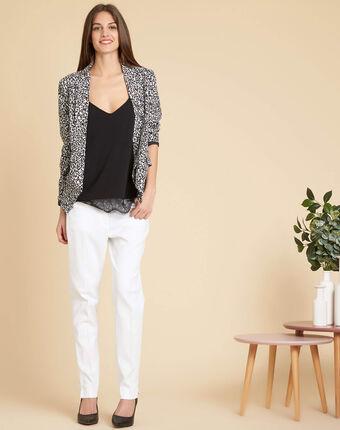 Pantalon de tailleur blanc à pinces valero blanc.