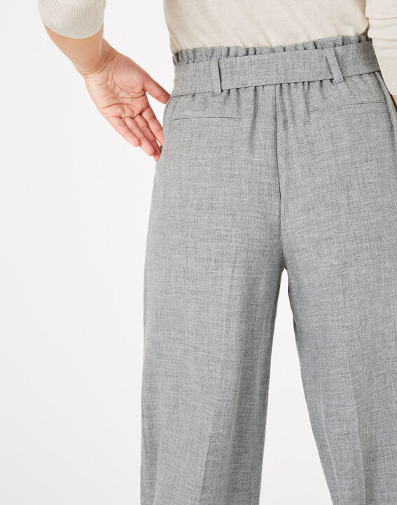 Pantalon gris cropped Kris (5) - 1-2-3