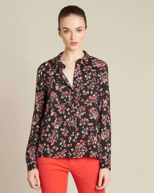 Davis black shirt with floral print (2) - 1-2-3