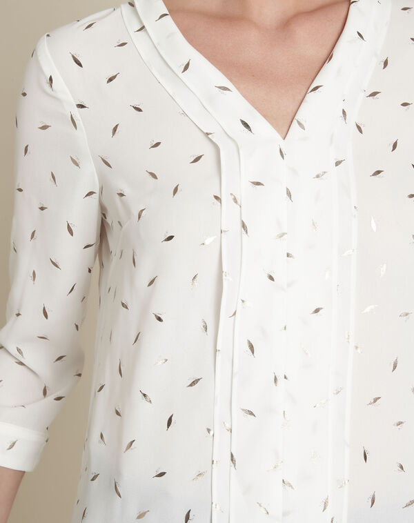 Ecru blouse met print Elea (2) - 37653