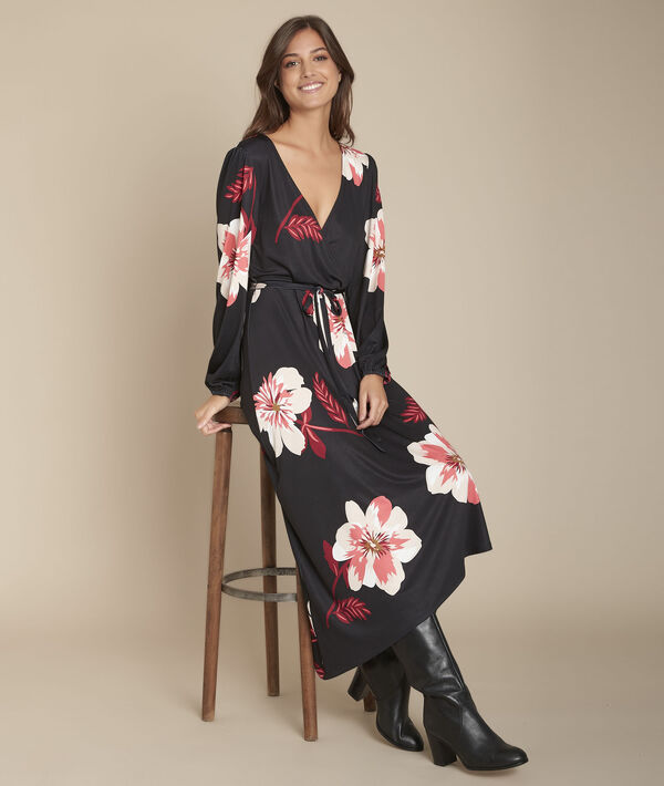Kleid Wickelform Blumenprint Ivola PhotoZ | 1-2-3