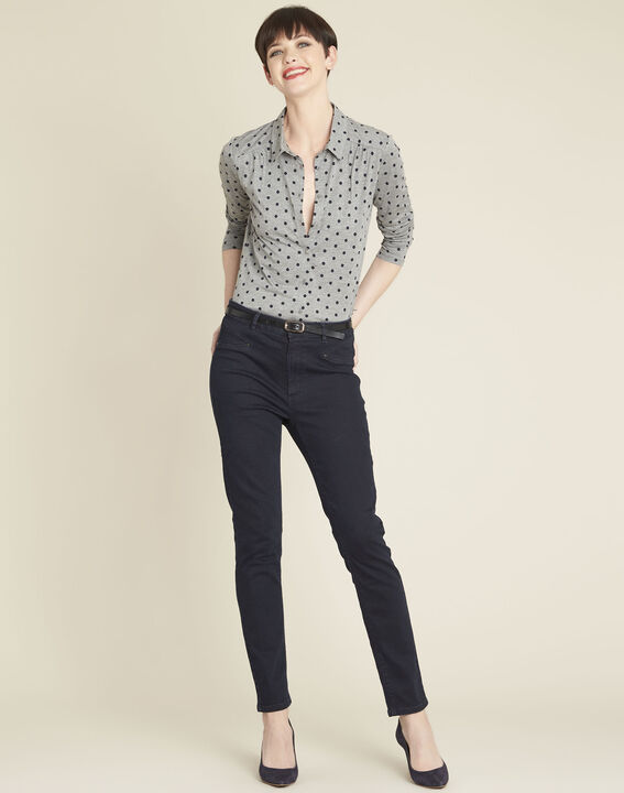 Gaby grey polka dot print t-shirt (2) - Maison 123