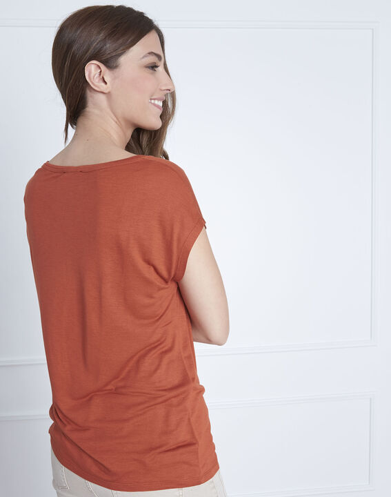Tee-shirt orange col rond Pippa (4) - 1-2-3