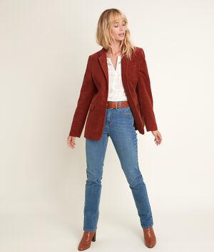 De originele, used, stone straight-fit 123 jeans Sonia