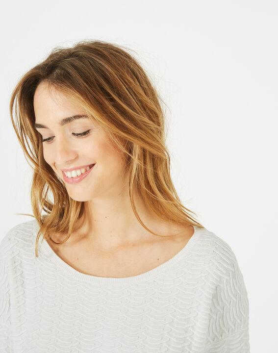Pop ecru sweater with stunning stitchwork (2) - 1-2-3