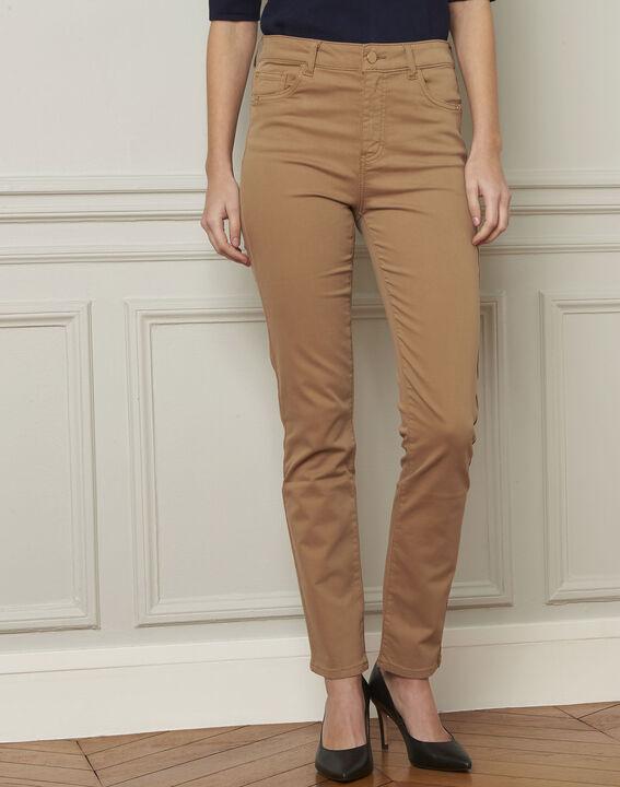 7/8 beige slim fit jeans van katoensatijn Vendome PhotoZ   1-2-3