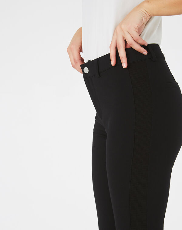 Pantalon noir slim kali à