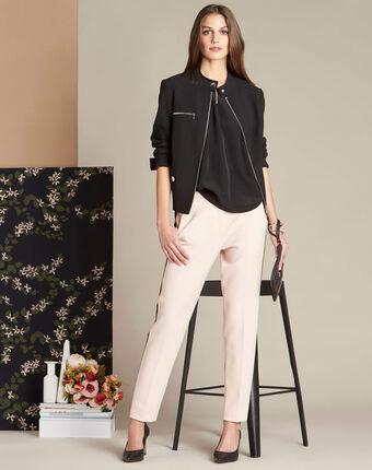 Pantalon nude compacte bande latérale vadim peche.