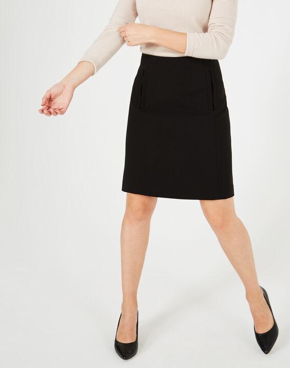 Folk black tailored skirt (2) - 1-2-3