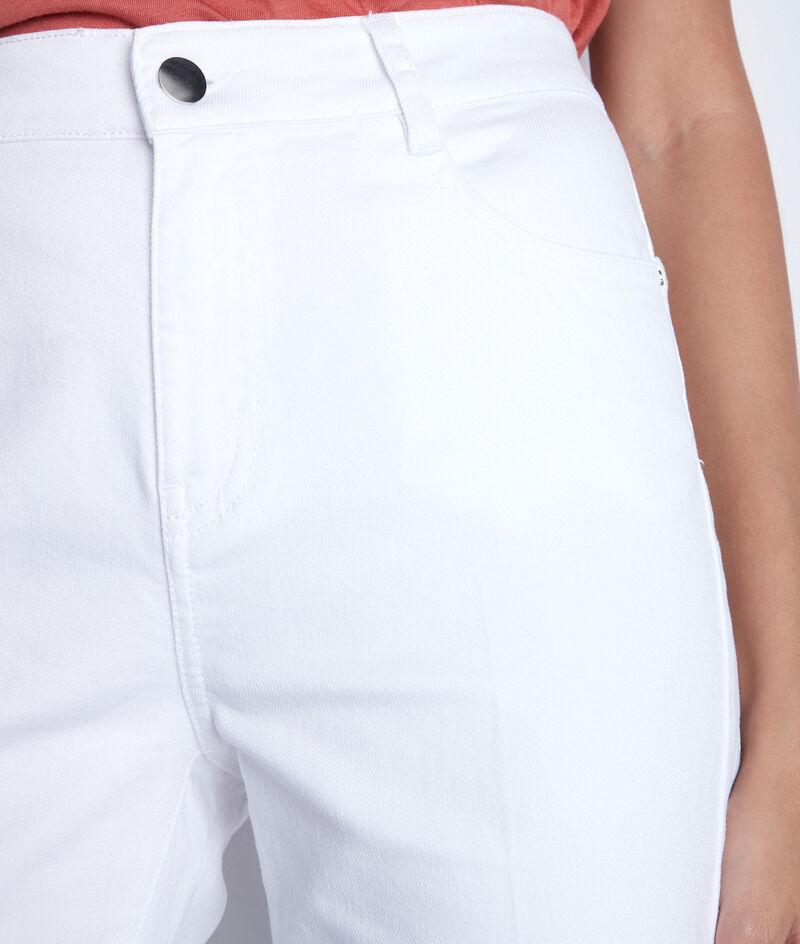 Jean flare en coton blanc Fidji PhotoZ | 1-2-3