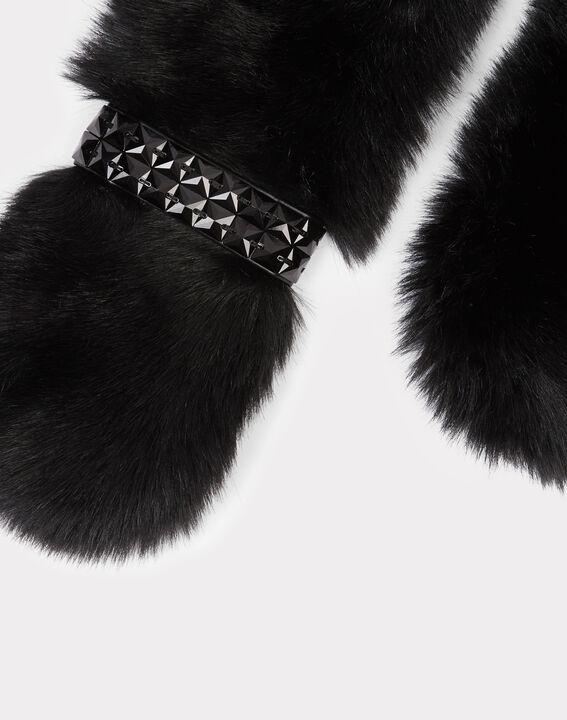 Col noir en fausse fourrure Evernight PhotoZ | 1-2-3