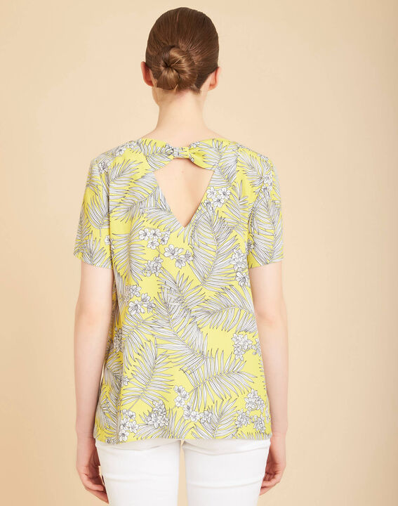 Givre yellow printed T-shirt with tie (4) - 1-2-3