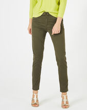 Kloe khaki 7/8 length trousers kaki.