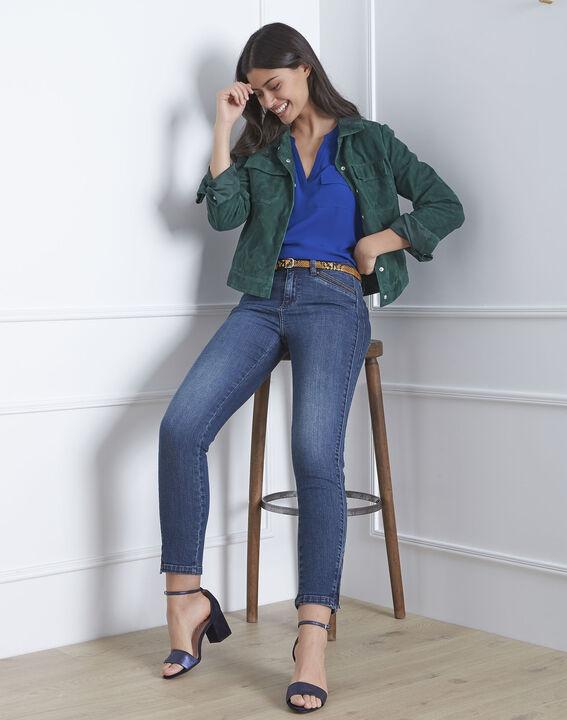 Opera standard-cut indigo jeans with zips at the waist PhotoZ | 1-2-3