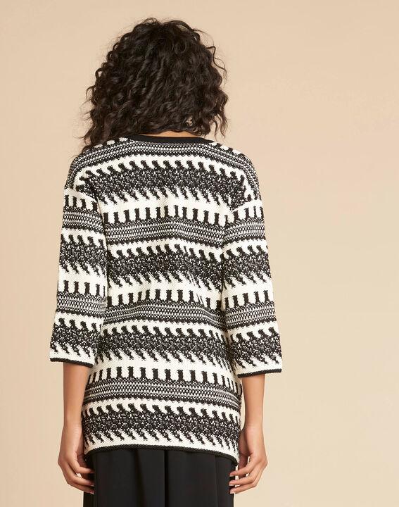 Navajo black and white knit jacket (4) - 1-2-3