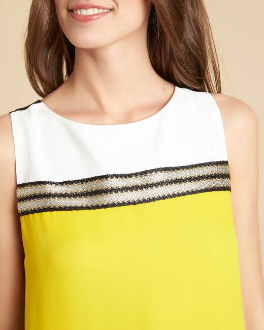 Robe noir & jaune détails dorés Isola (2) - 1-2-3