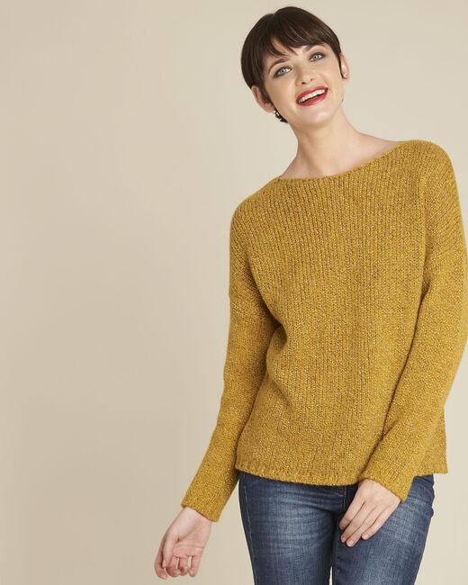 Gelber Pullover mit Rundhalsausschnitt aus Wollgemisch Bango (2) - 1-2-3
