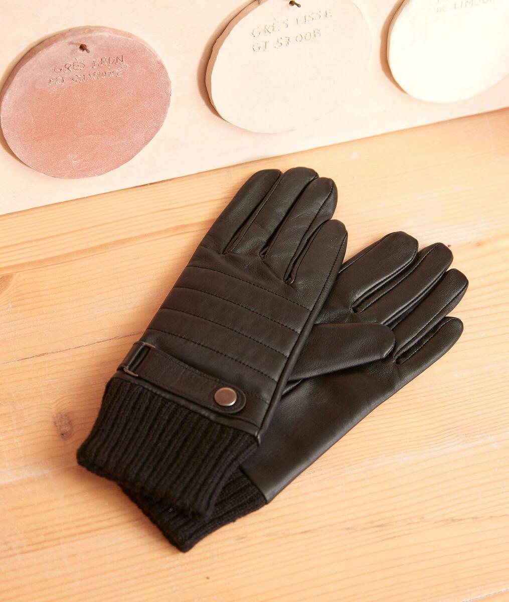 Gants en cuir noirs Ulysse PhotoZ | 1-2-3