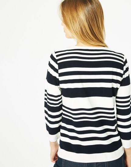 Tee-shirt manches 3/4 rayé Boréal (5) - 1-2-3