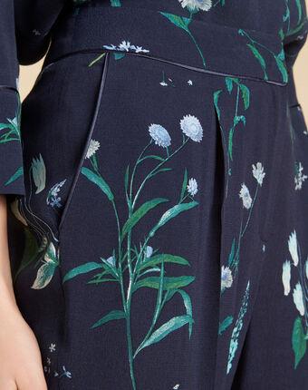 Pantalon fluide marine fleuri douglas marine.