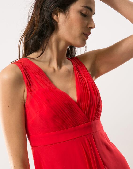Robe rouge en soie Loulou PhotoZ | 1-2-3