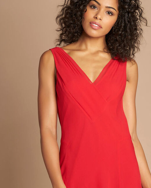 Foret red silk swirly midi dress (1) - 1-2-3