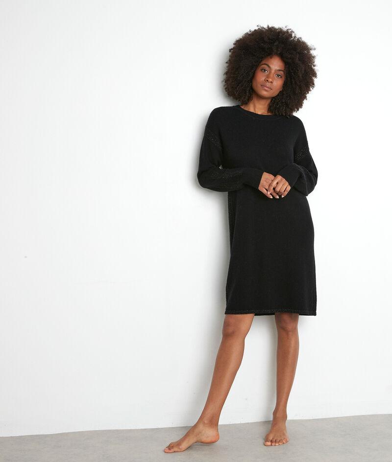 Pulloverkleid aus Wolle schwarz Tabata PhotoZ | 1-2-3