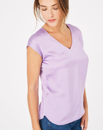 Tee-shirt lilas Blanche (1) - 1-2-3